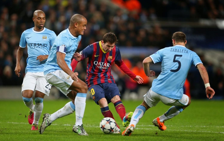 Играет Барселона и Манчестер сити