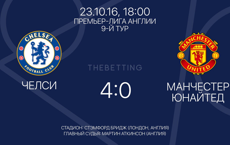 Результат матча Челси - Манчестер Юнайтед 23.10.16
