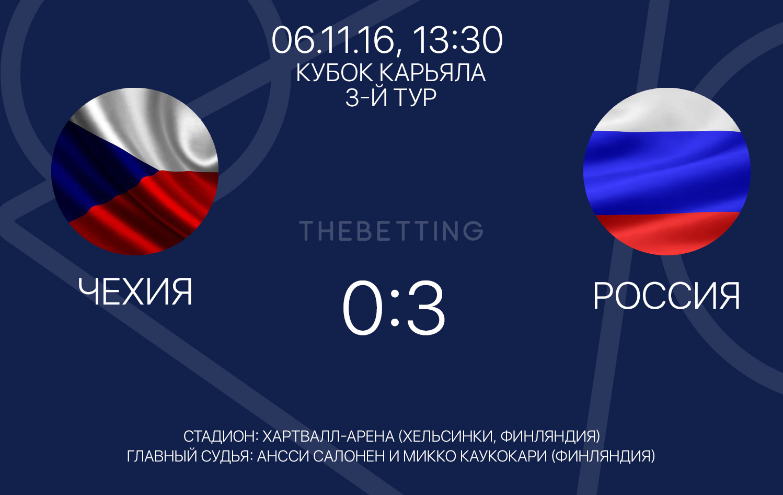 Чехия - Россия 06 ноября 2016