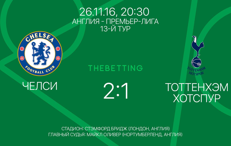 Челси - Тоттенхэм Хотспур обзор матча 26 ноября 2016