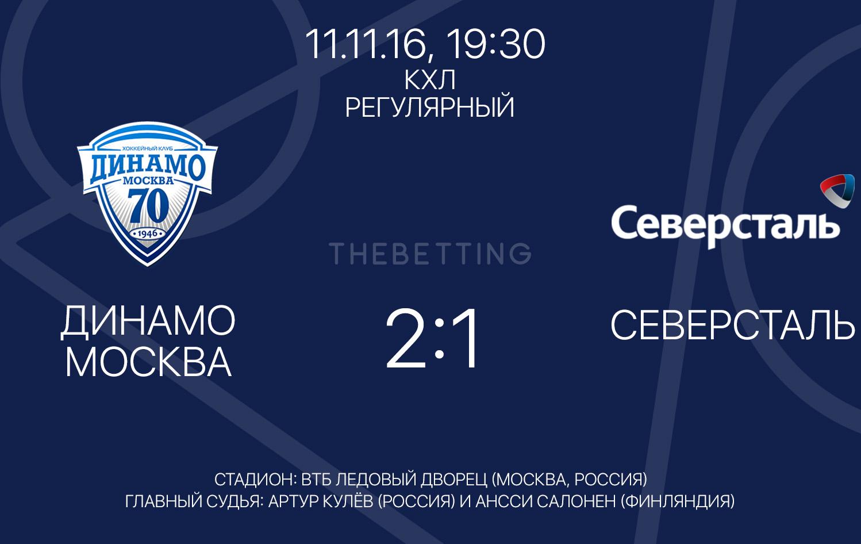 Динамо М - Северсталь 11 ноября 2016