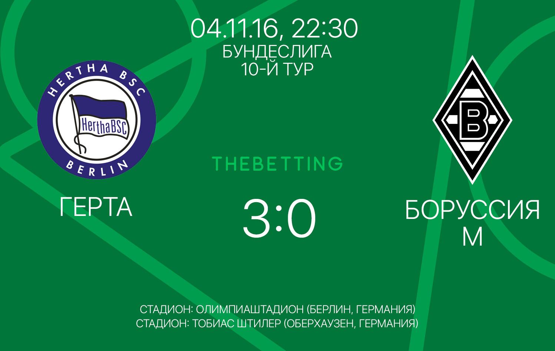 Герта - Боруссия М 04 ноября 2016