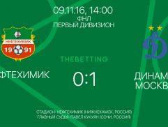 Нефтехимик - Динамо Москва 09 ноября 2016