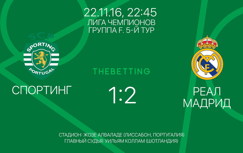 Обзор матча Спортинг - Реал Мадрид 22 ноября 2016