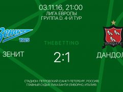 Зенит - Дандолк 3 ноября 2016