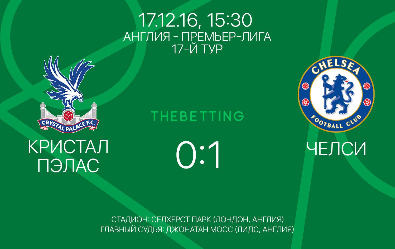 Обзор матча Кристал Пэлас - Челси 17 декабря 2016