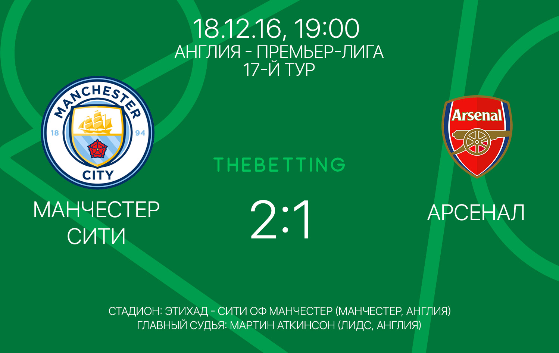 Обзор матча Манчестер Сити - Арсенал 18 декабря 2016
