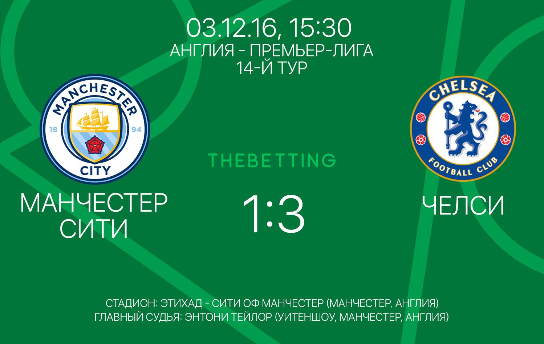Обзор матча Манчестер Сити - Челси 03 декабря 2016