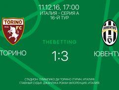 Обзор матча Торино - Ювентус 11 декабря 2016