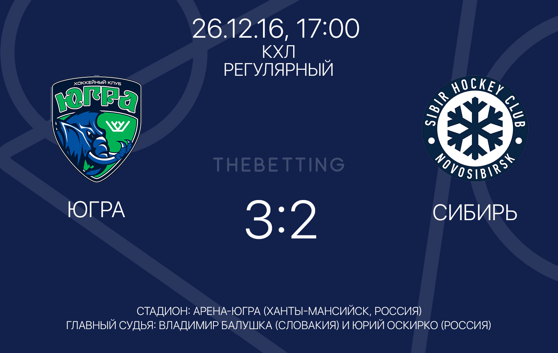 Обзор матча Югра - Сибирь 26 декабря 2016