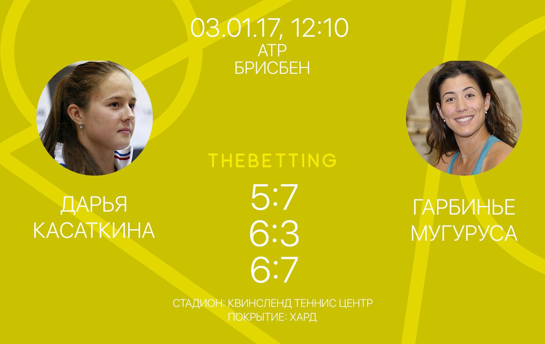 Обзор матча Дарья Касаткина - Гарбинье Мугуруса 03 января 2017
