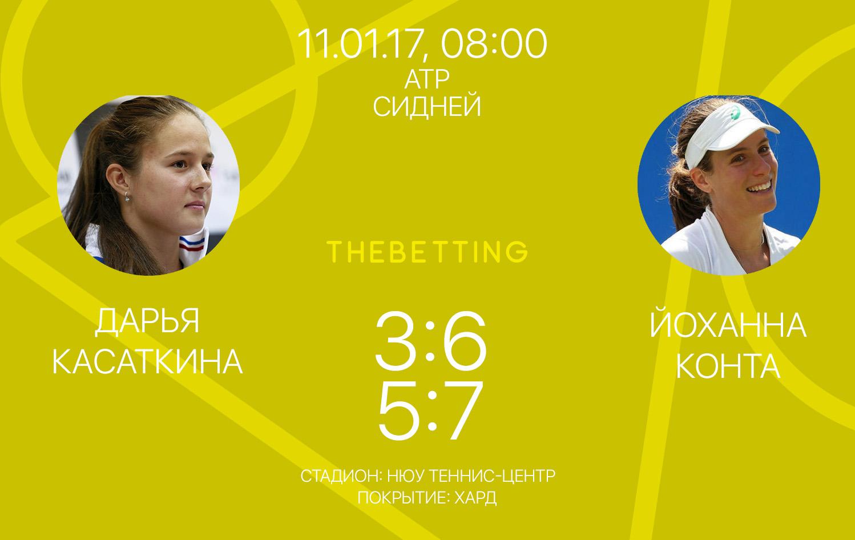 Обзор матча Дарья Касаткина - Йоханна Конте 11 января 2017