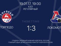 Обзор матча Торпедо - Локомотив 19 января 2017