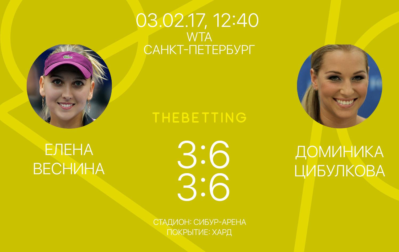 Обзор матча Елена Веснина - Доминика Цибулкова 03 февраля 2017