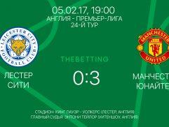 Обзор матча Лестер Сити - Манчестер Юнайтед 05 февраля 2017