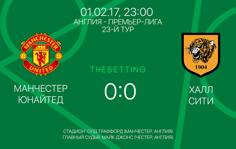 Обзор матча Манчестер Юнайтед - Халл Сити 01 февраля 2017