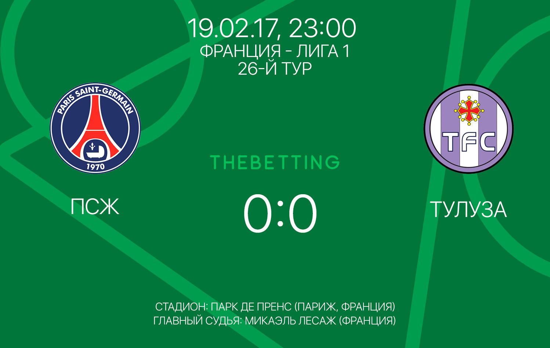 Обзор матча ПСЖ - Тулуза 19 февраля 2017