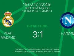 Обзор матча Реал Мадрид - Наполи 15 февраля 2017