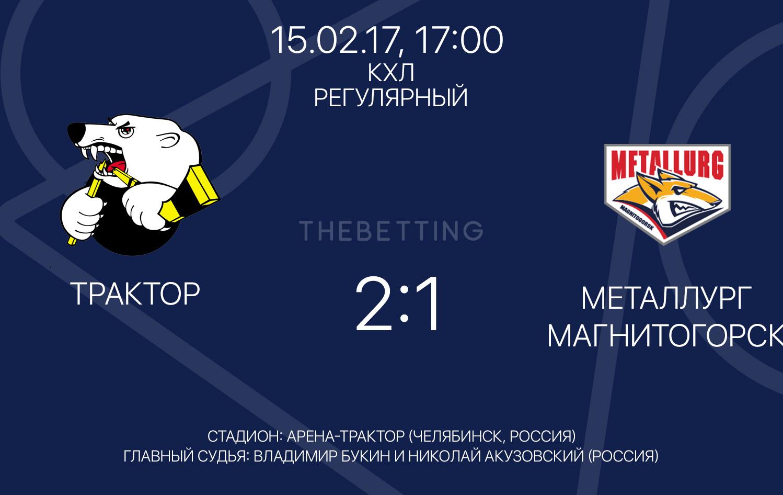 Обзор матча Трактор - Металлург МГ 15 февраля 2017