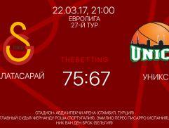 Обзор матча Галатасарай - УНИКС 22 марта 2017