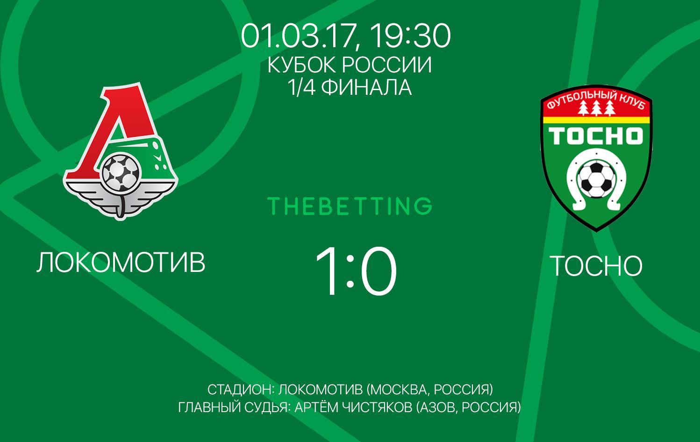 Обзор матча Локомотив - Тосно 01 марта 2017