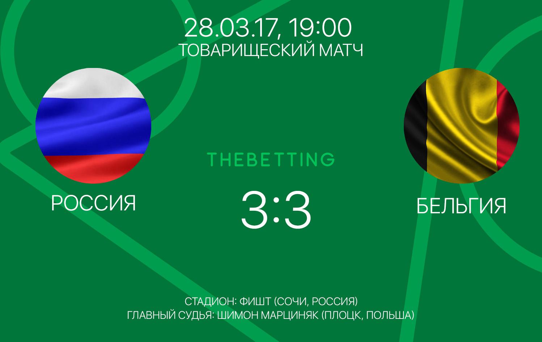 Обзор матча Россия - Бельгия 28 марта 2017