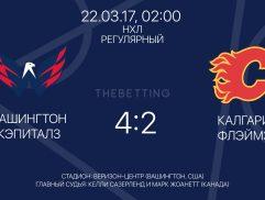 Обзор матча Вашингтон Кэпиталз - Калгари Флэймз 22 марта 2017