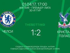 Обзор матча Челси - Кристал Пэлас 01 апреля 2017