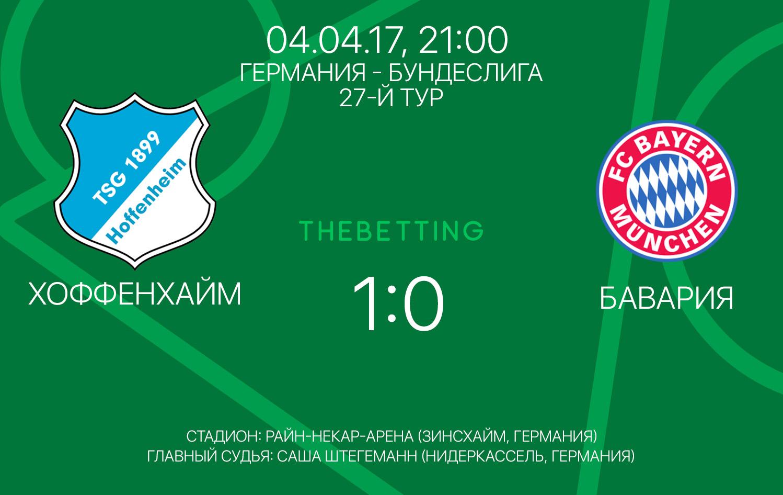 Обзор матча Хоффенхайм - Бавария 04 апреля 2017