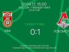 Обзор матча Уфа - Локомотив 01 апреля 2017